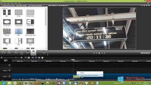 Скриншот программы Camtasia Studio для Windows 8.1