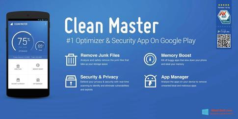 Скриншот программы Clean Master для Windows 8.1