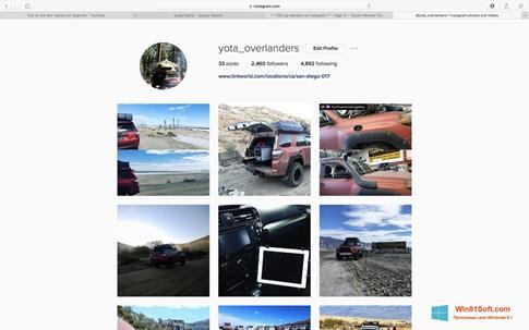 Скриншот программы Instagram для Windows 8.1