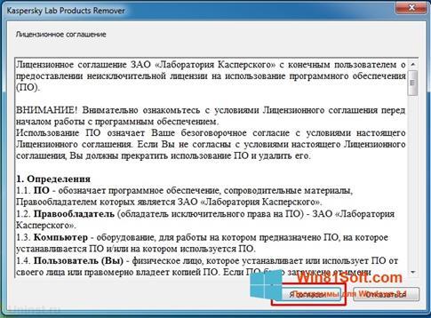 Скриншот программы KAVRemover для Windows 8.1
