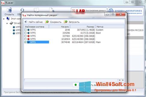 Скриншот программы R.saver для Windows 8.1
