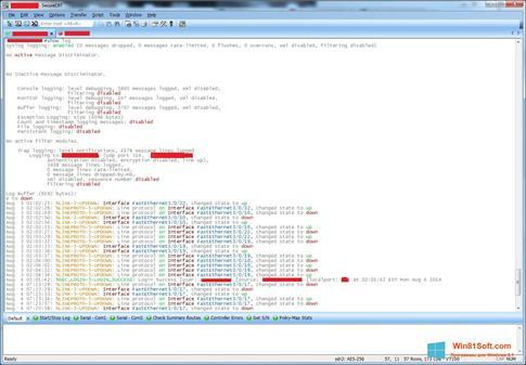 Скриншот программы SecureCRT для Windows 8.1