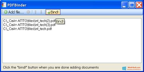 Скриншот программы PDFBinder для Windows 8.1