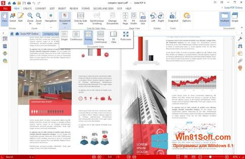 Скриншот программы Soda PDF для Windows 8.1