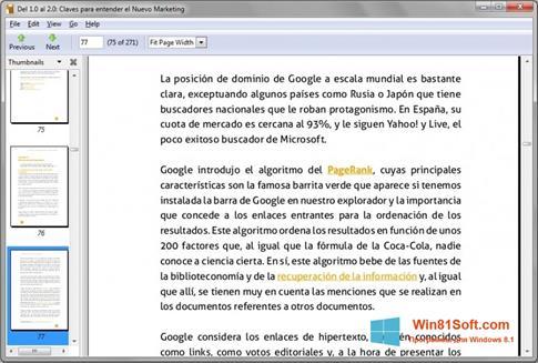 Скриншот программы Evince для Windows 8.1
