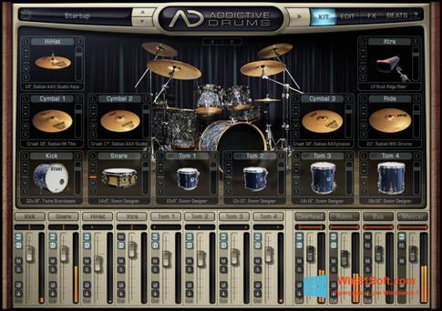 Скриншот программы Addictive Drums для Windows 8.1