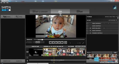 Скриншот программы GoPro Studio для Windows 8.1
