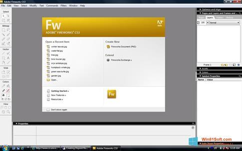 Скриншот программы Adobe Fireworks для Windows 8.1