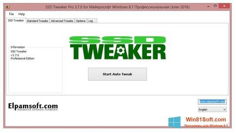 Скриншот программы SSD Tweaker для Windows 8.1