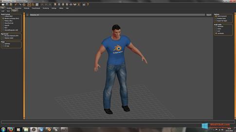 Скриншот программы MakeHuman для Windows 8.1
