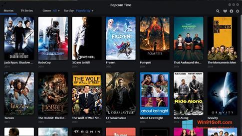 Скриншот программы Popcorn Time для Windows 8.1