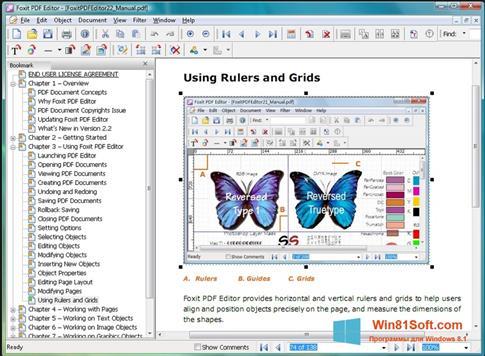 Скриншот программы Foxit PDF Editor для Windows 8.1