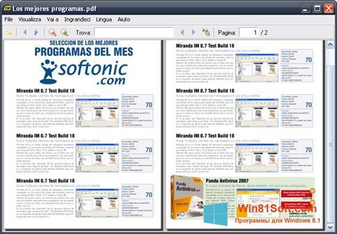 Скриншот программы Sumatra PDF для Windows 8.1