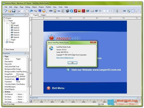 Скриншот программы AutoPlay Media Studio для Windows 8.1