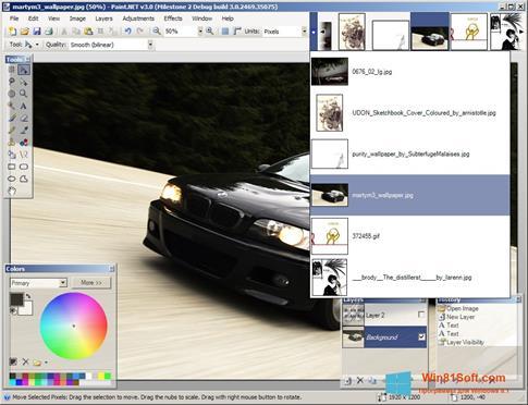 Скриншот программы Paint.NET для Windows 8.1