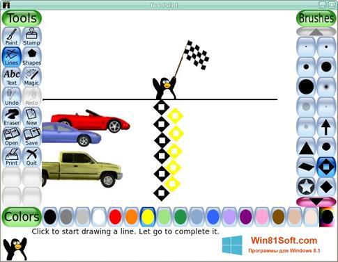 Скриншот программы Tux Paint для Windows 8.1