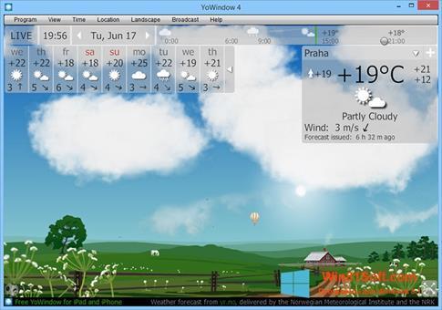 Скриншот программы YoWindow для Windows 8.1