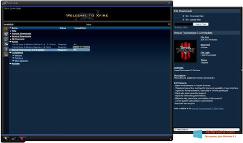Скриншот программы Xfire для Windows 8.1