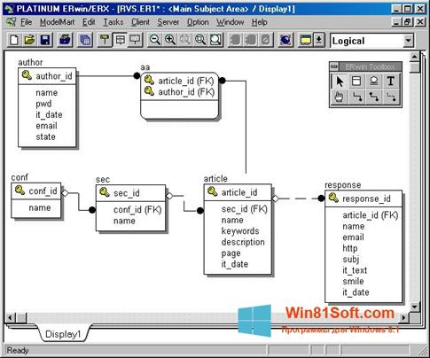 Скриншот программы ERWin для Windows 8.1
