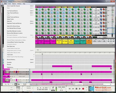 Скриншот программы Reason для Windows 8.1