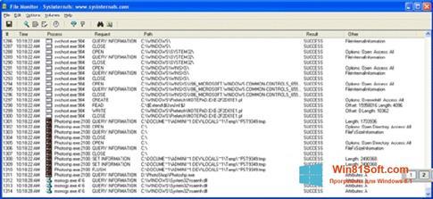 Скриншот программы FileMon для Windows 8.1