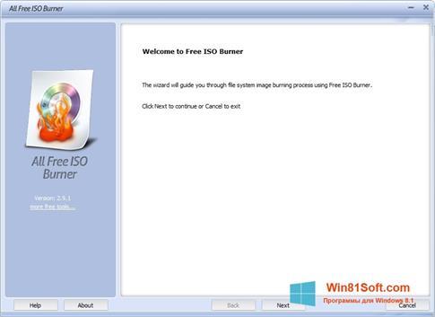 Скриншот программы ISO Burner для Windows 8.1
