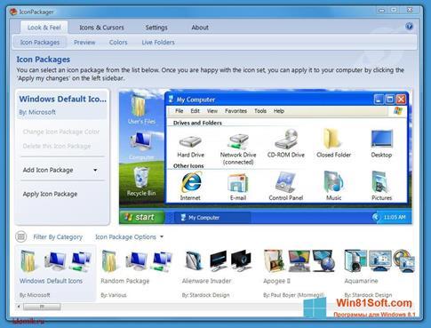 Скриншот программы IconPackager для Windows 8.1