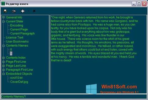 Скриншот программы BookReader для Windows 8.1