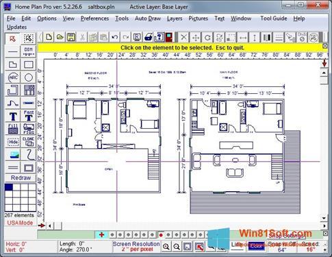 Скриншот программы Home Plan Pro для Windows 8.1