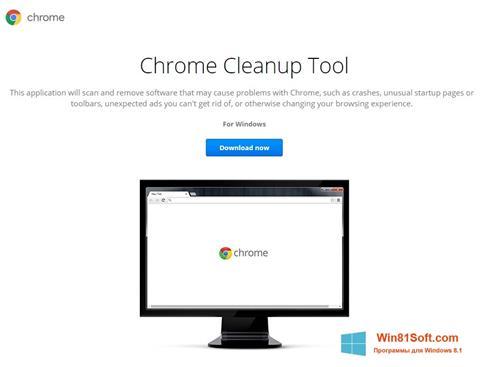 Скриншот программы Chrome Cleanup Tool для Windows 8.1