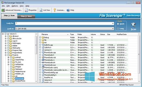 Скриншот программы File Scavenger для Windows 8.1