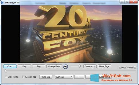Скриншот программы MKV Player для Windows 8.1