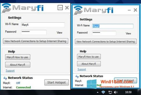 Скриншот программы MaryFi для Windows 8.1