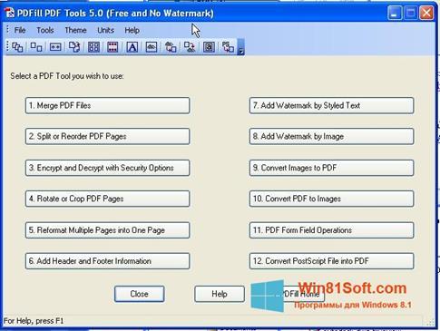 Скриншот программы Pdf995 для Windows 8.1
