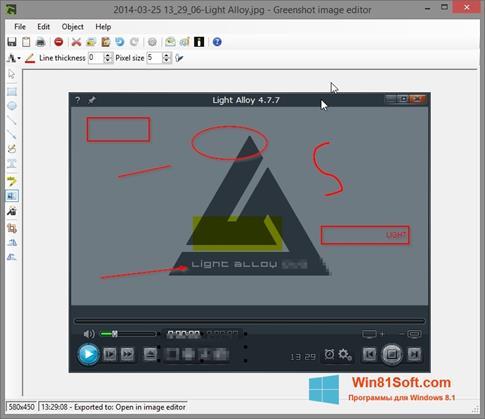 Скриншот программы Greenshot для Windows 8.1