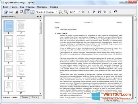 Скриншот программы DjView для Windows 8.1