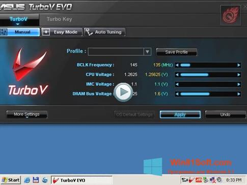 Скриншот программы TurboV EVO для Windows 8.1