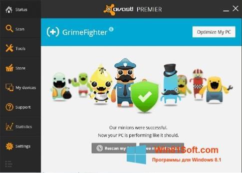 Скриншот программы Avast GrimeFighter для Windows 8.1