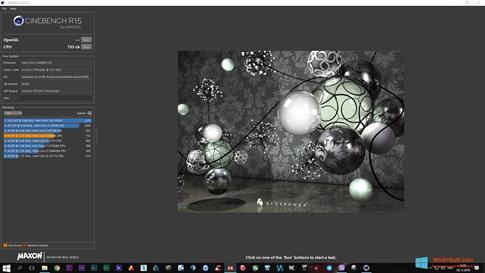 Скриншот программы CINEBENCH для Windows 8.1