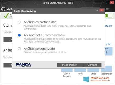 Скриншот программы Panda Cloud для Windows 8.1