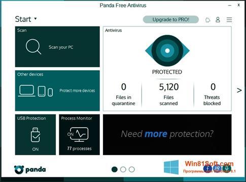 Скриншот программы Panda для Windows 8.1