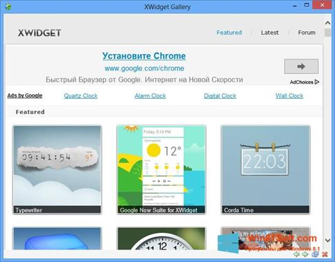 Скриншот программы XWidget для Windows 8.1