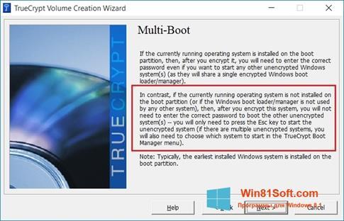 Скриншот программы MultiBoot для Windows 8.1