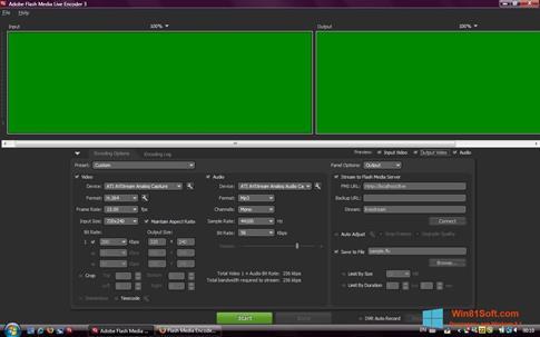 Скриншот программы Adobe Media Encoder для Windows 8.1