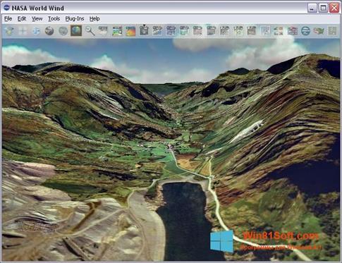 Скриншот программы NASA World Wind для Windows 8.1