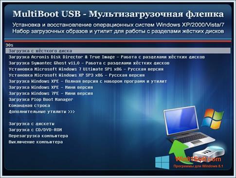 Скриншот программы Multi Boot USB для Windows 8.1