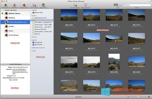 Скриншот программы iPhoto для Windows 8.1