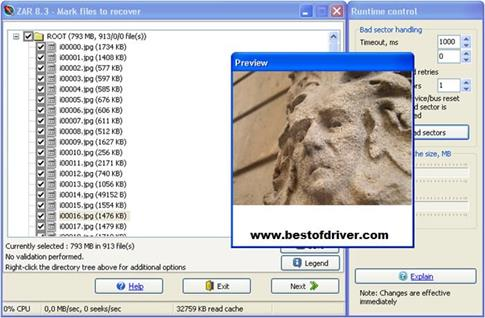Скриншот программы Zero Assumption Recovery для Windows 8.1