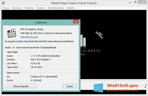 Скриншот программы K-Lite Codec Pack для Windows 8.1