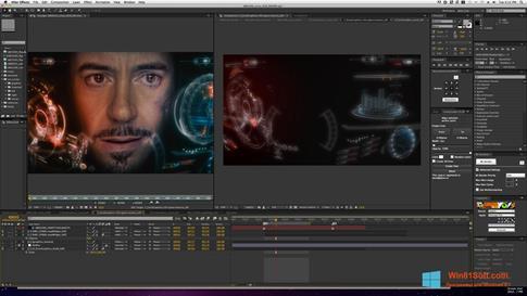 Скриншот программы Adobe After Effects для Windows 8.1